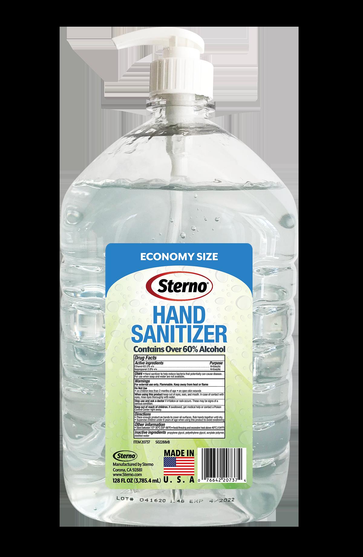 Sterno 20738 hand sanitizer