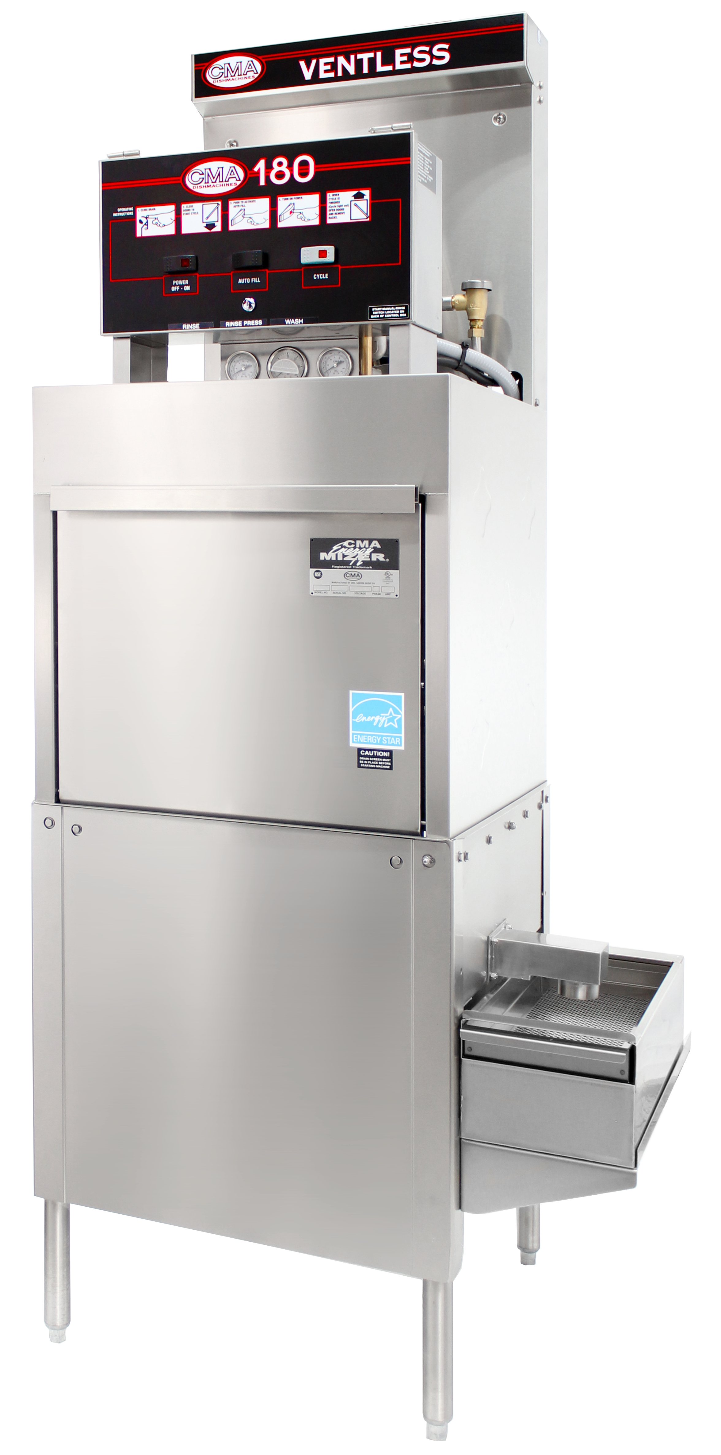 CMA Dishmachines 180-VLFL dishwasher, door type, ventless