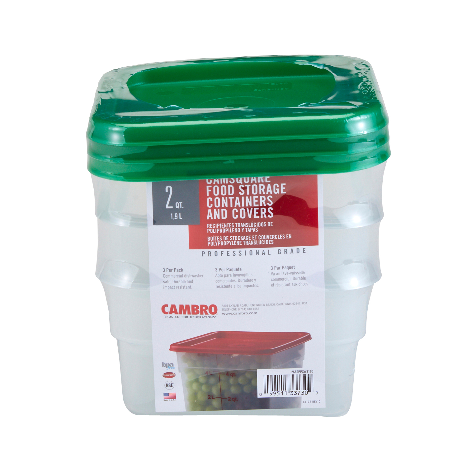 Cambro 2SFSPPSW3190 food storage container