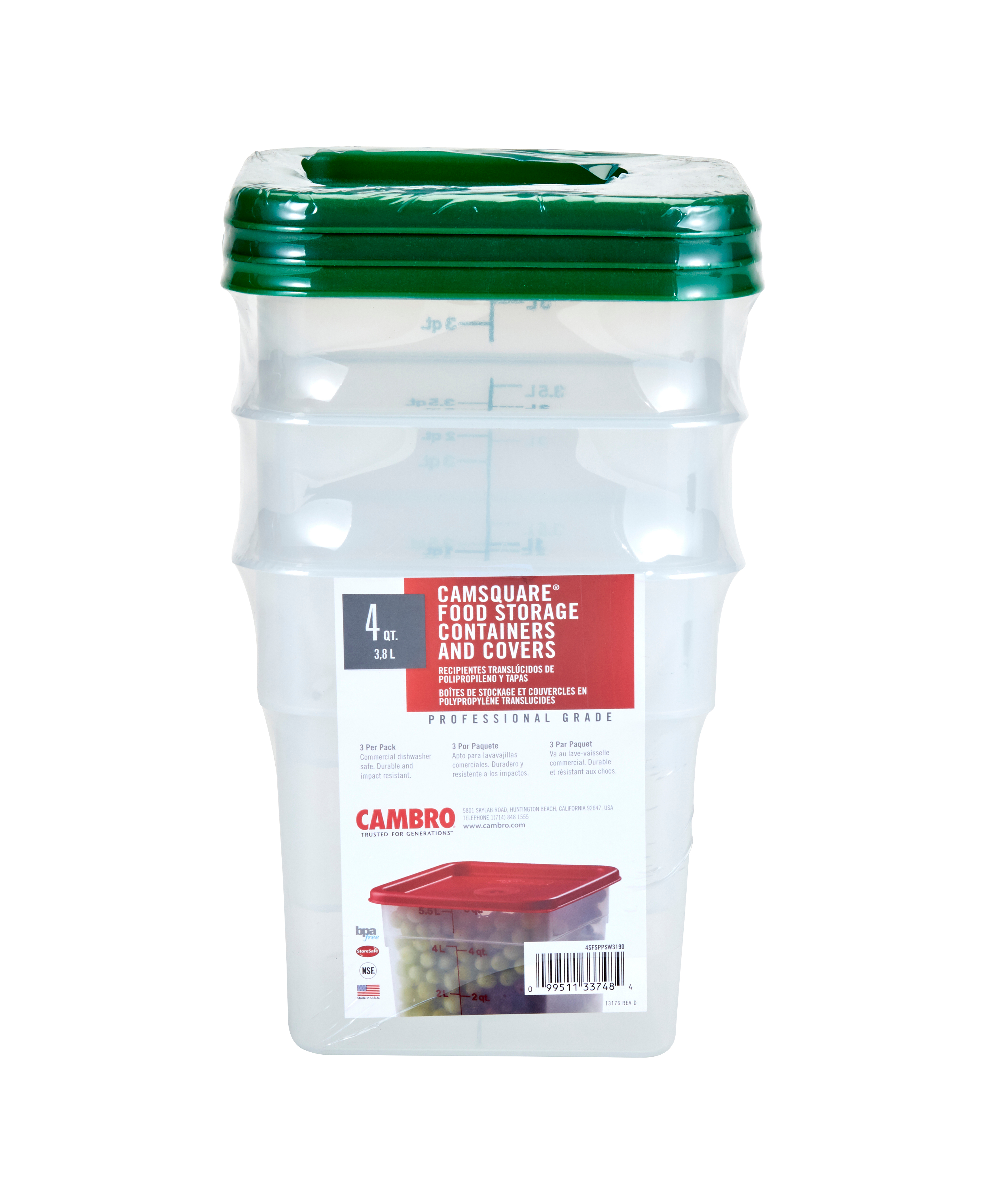 Cambro 4SFSPPSW3190 food/beverage storage container