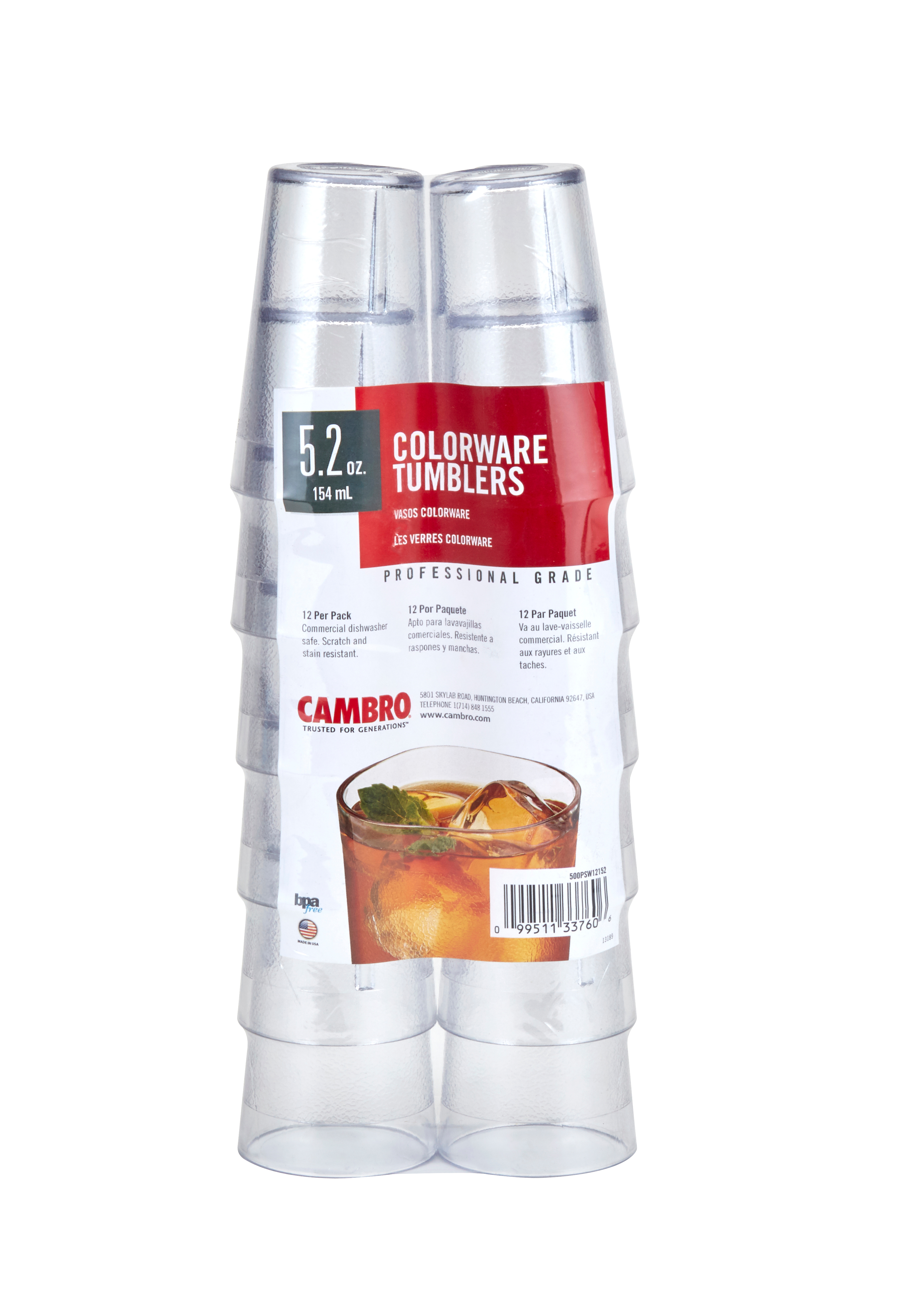 Cambro 500PSW12152 serving/drinking glasses