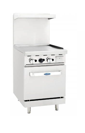 Atosa USA AGR-24G gas range with griddle top