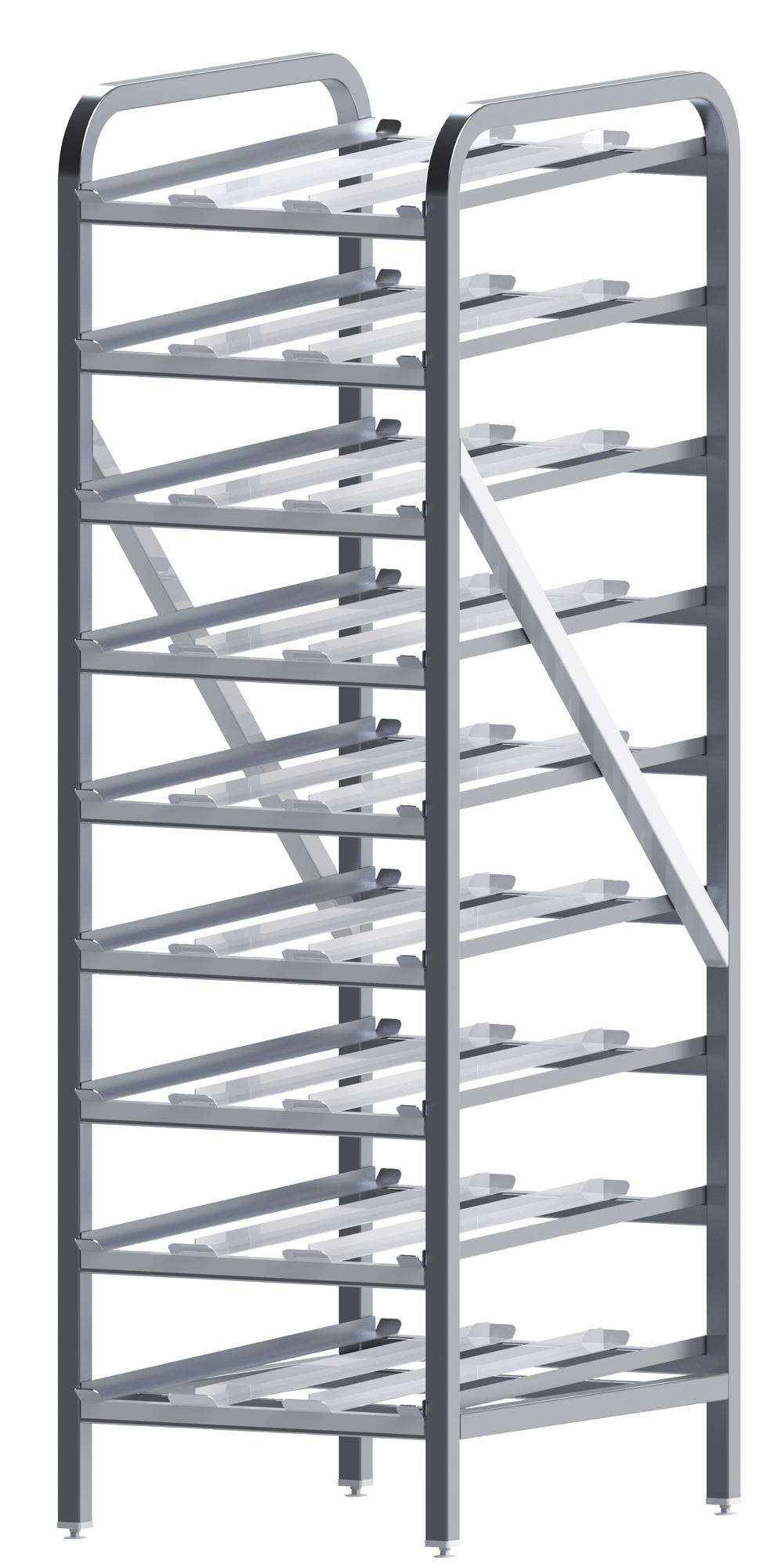 Winco ALCR-9 can storage racks