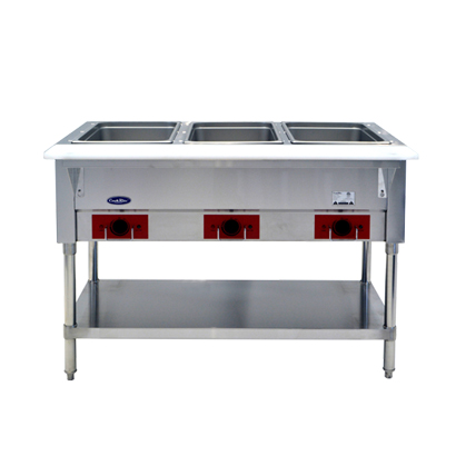 Atosa USA CSTEA-3C electric hot food table, 3 wells