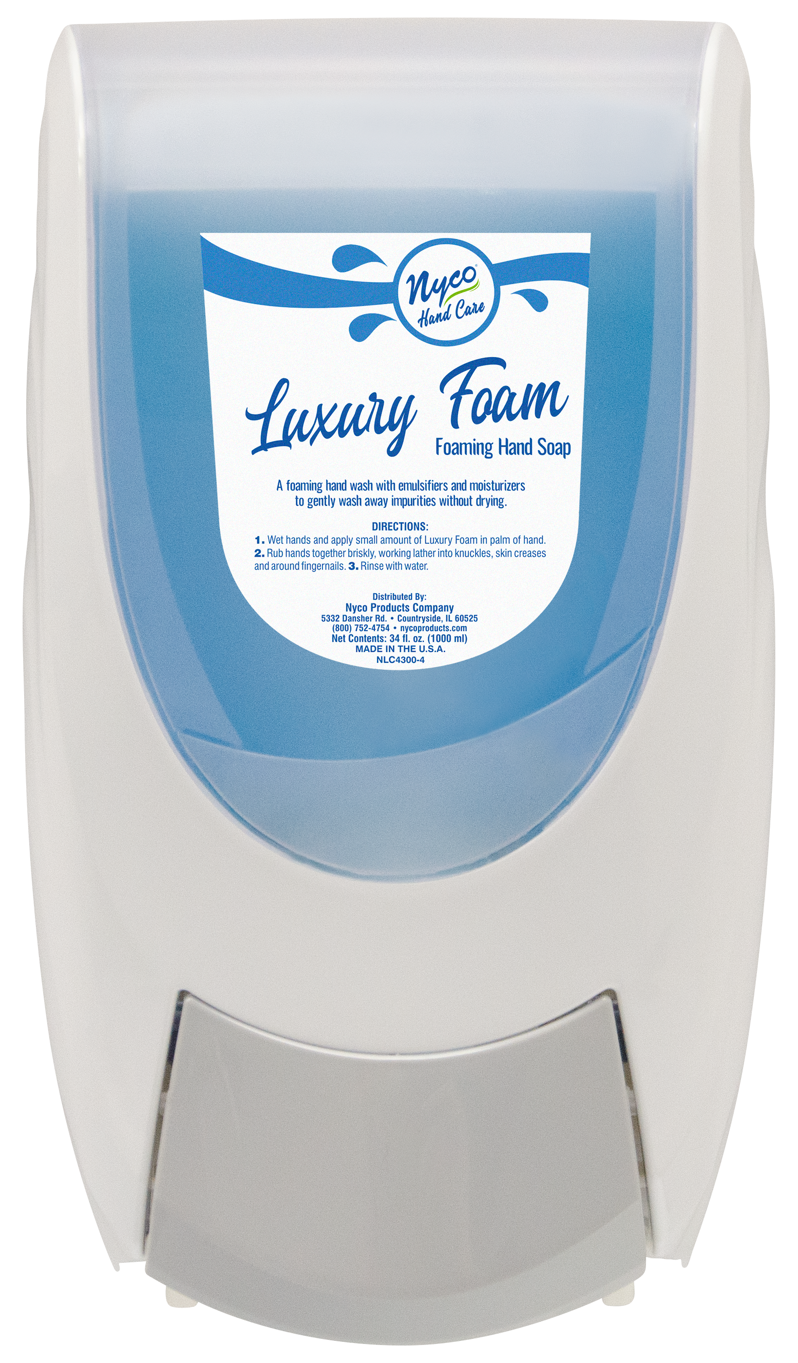 Nyco CSD-8007-W manual hand soap and hand sanitizer dispenser