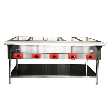 Atosa USA CSTEB-5C electric hot food table, 5 wells