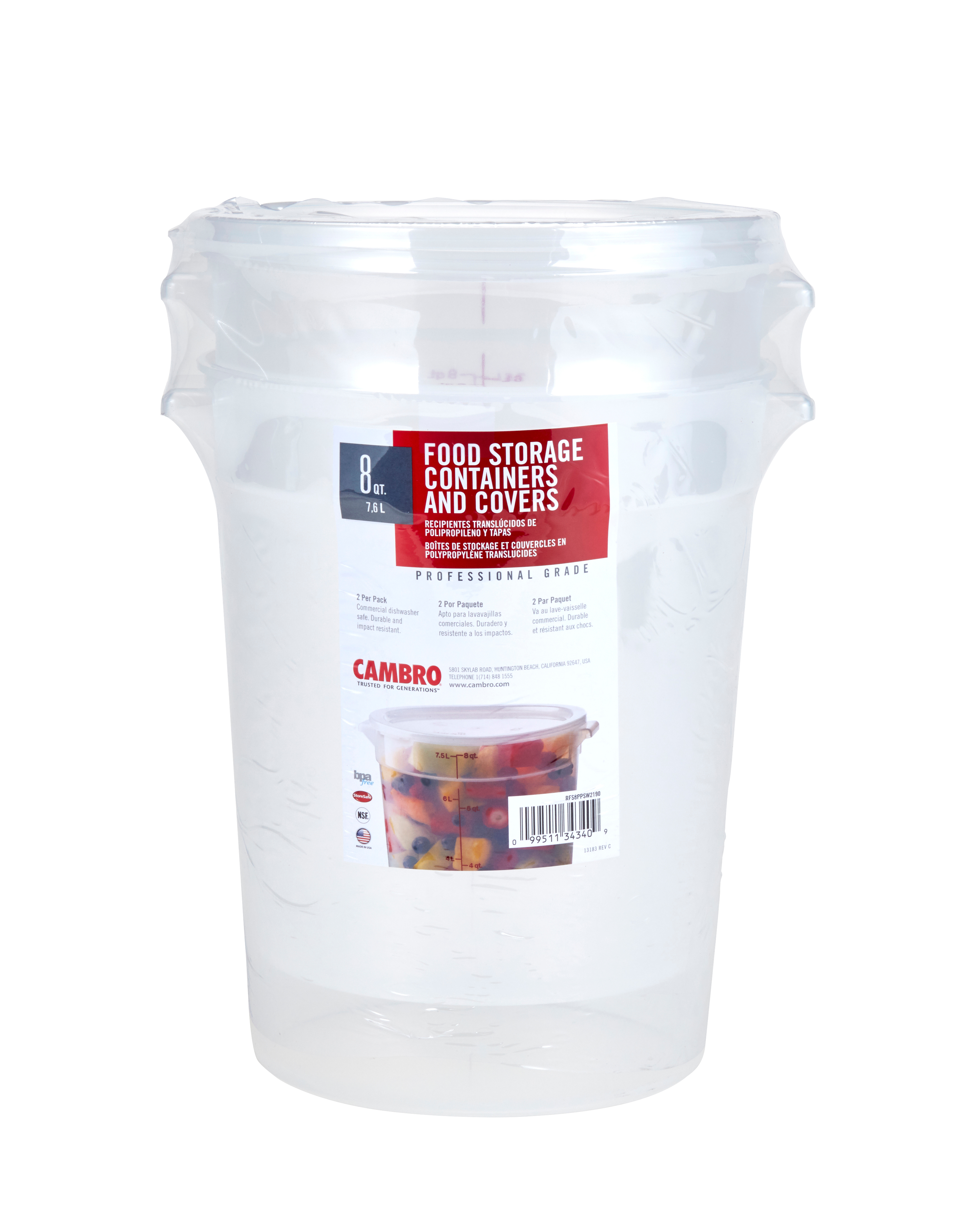 Cambro RFS8PPSW2190 food/beverage storage container