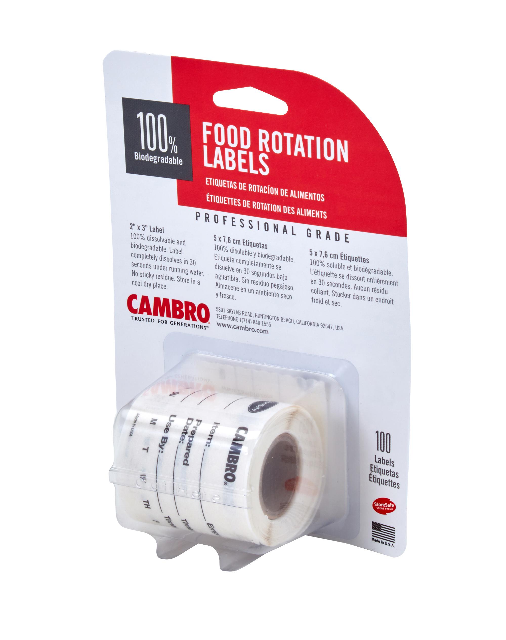 Cambro 23SL labels