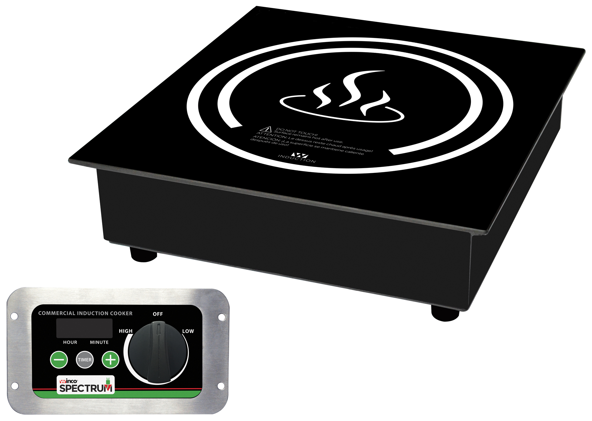 Winco EIDS-18C commercial drop-in induction cooker with nema 5-20p plug