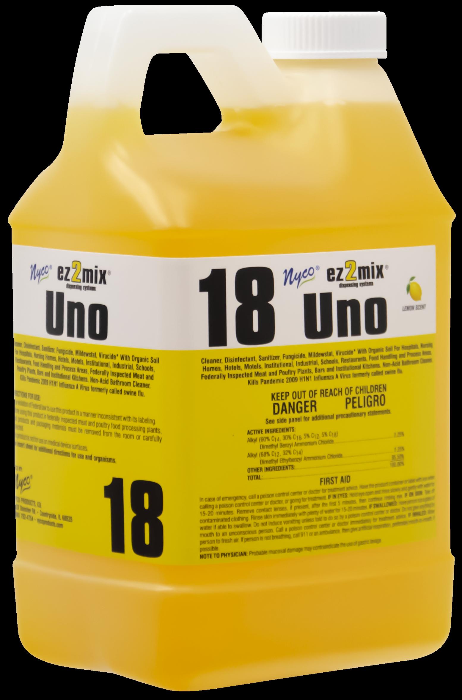 Nyco EZ018-480 uno cleaner/deodorizer, disinfectant, fungicide, mildewstat, virucide