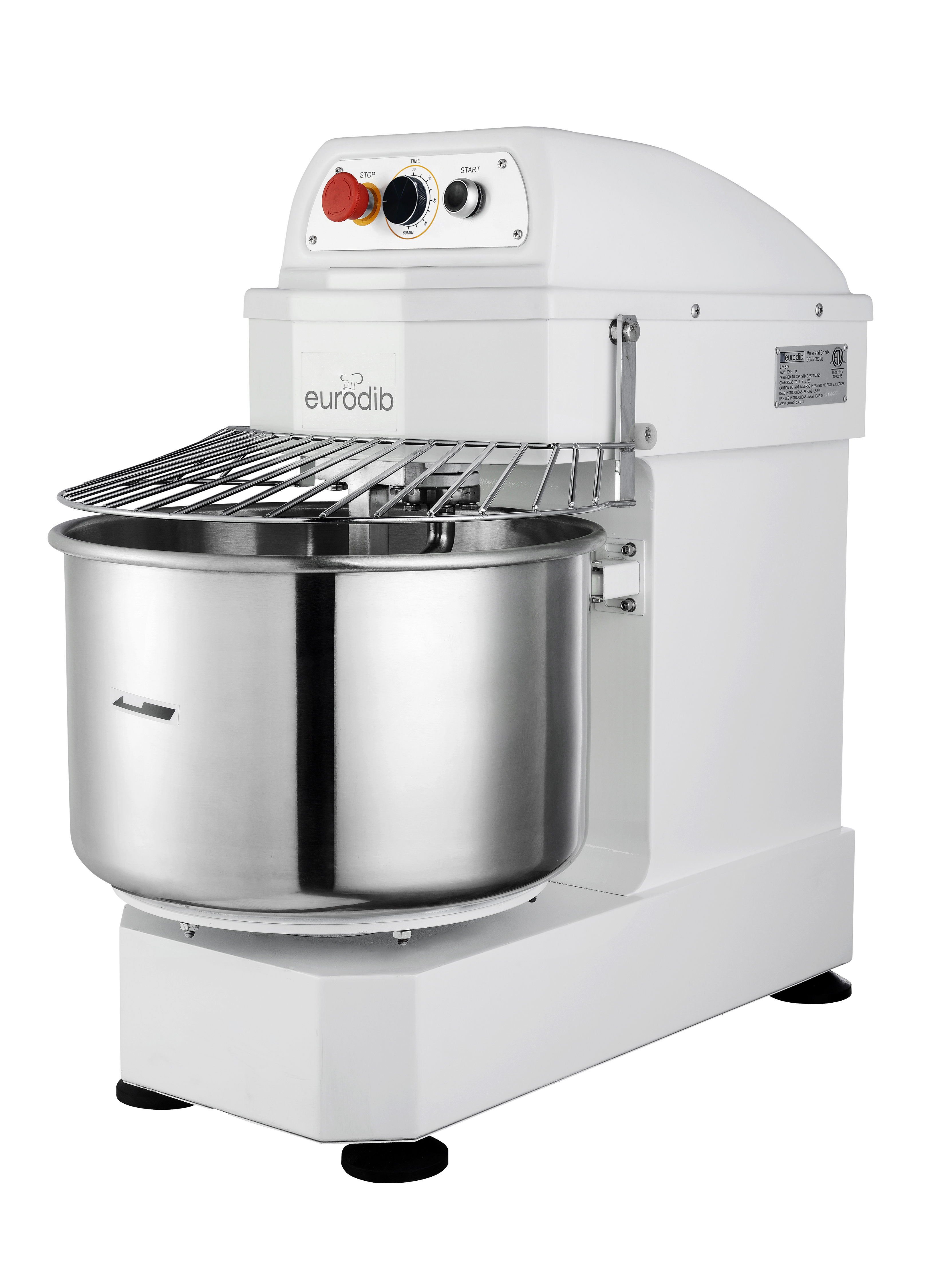 Eurodib USA LM30T-2 planetary & spiral mixers - accessories