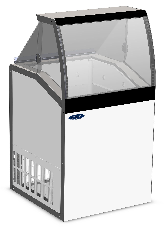 Nor-Lake HF040WWG/0LCG low viewing / curved glass , display freezers
