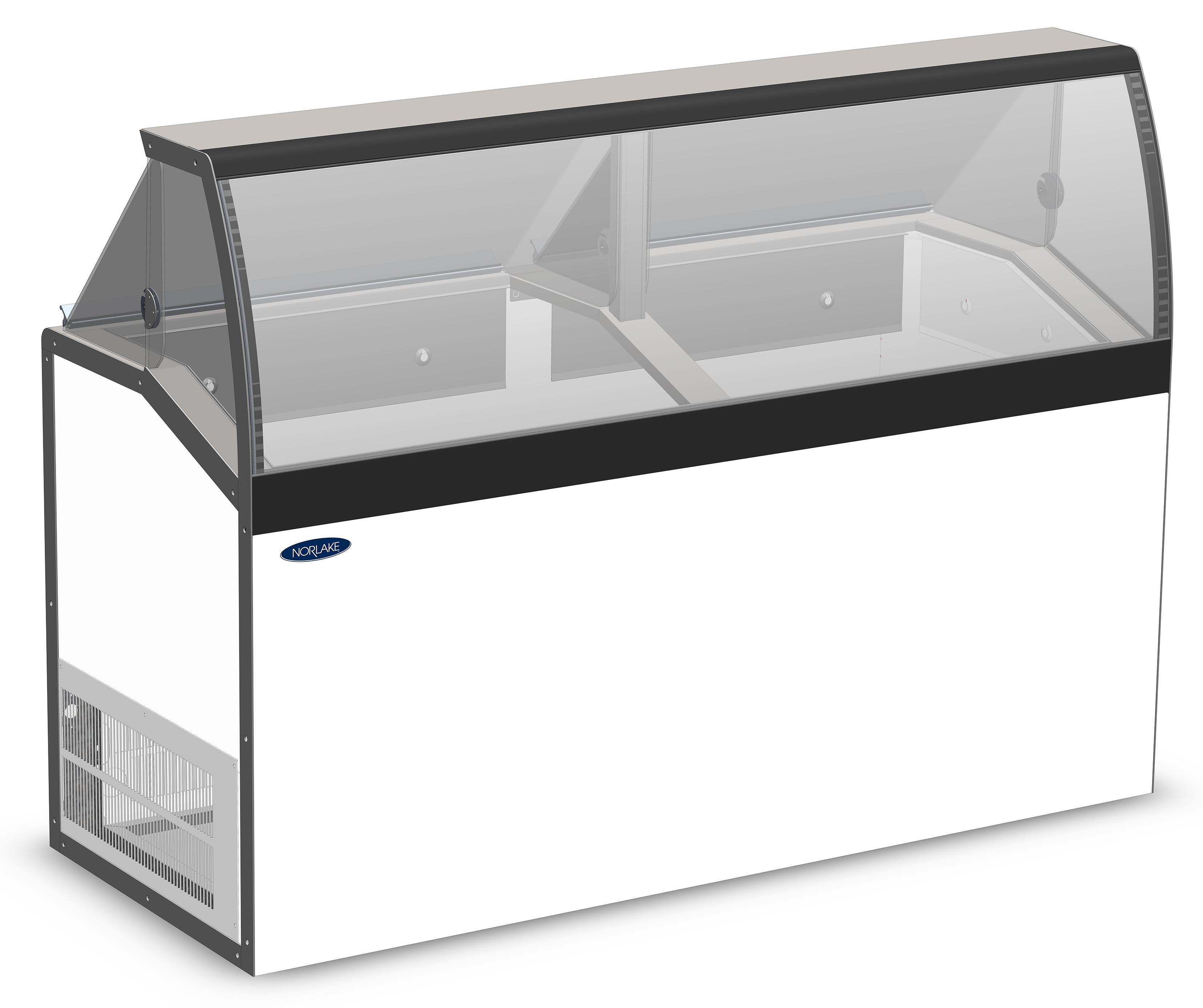 Nor-Lake HF160WWG/0LCG low viewing / curved glass , display freezers