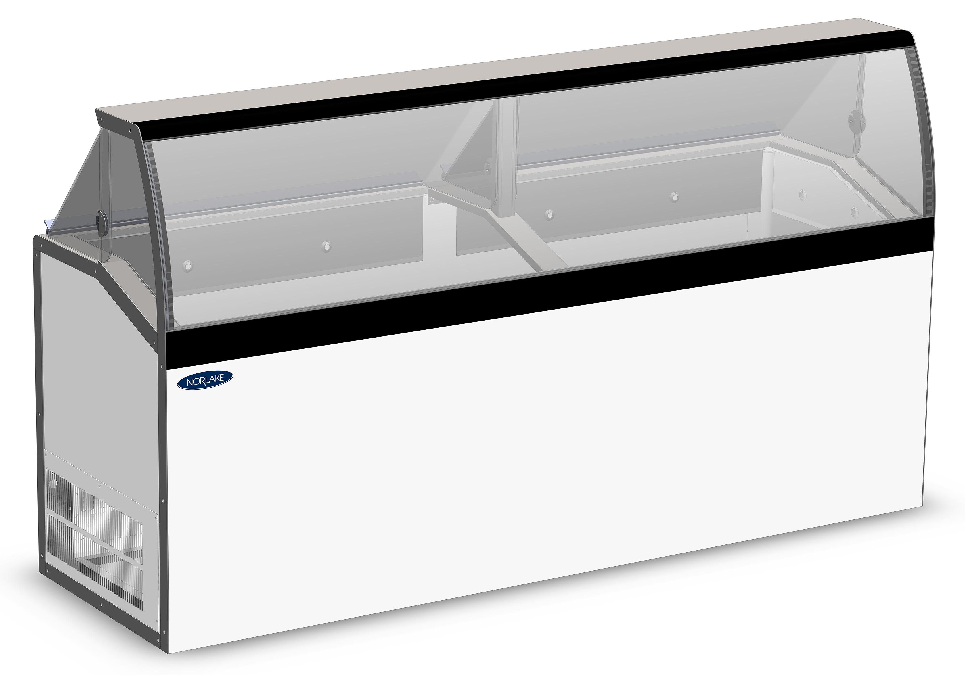 Nor-Lake HF230WWG/0LCG low viewing / curved glass , display freezers