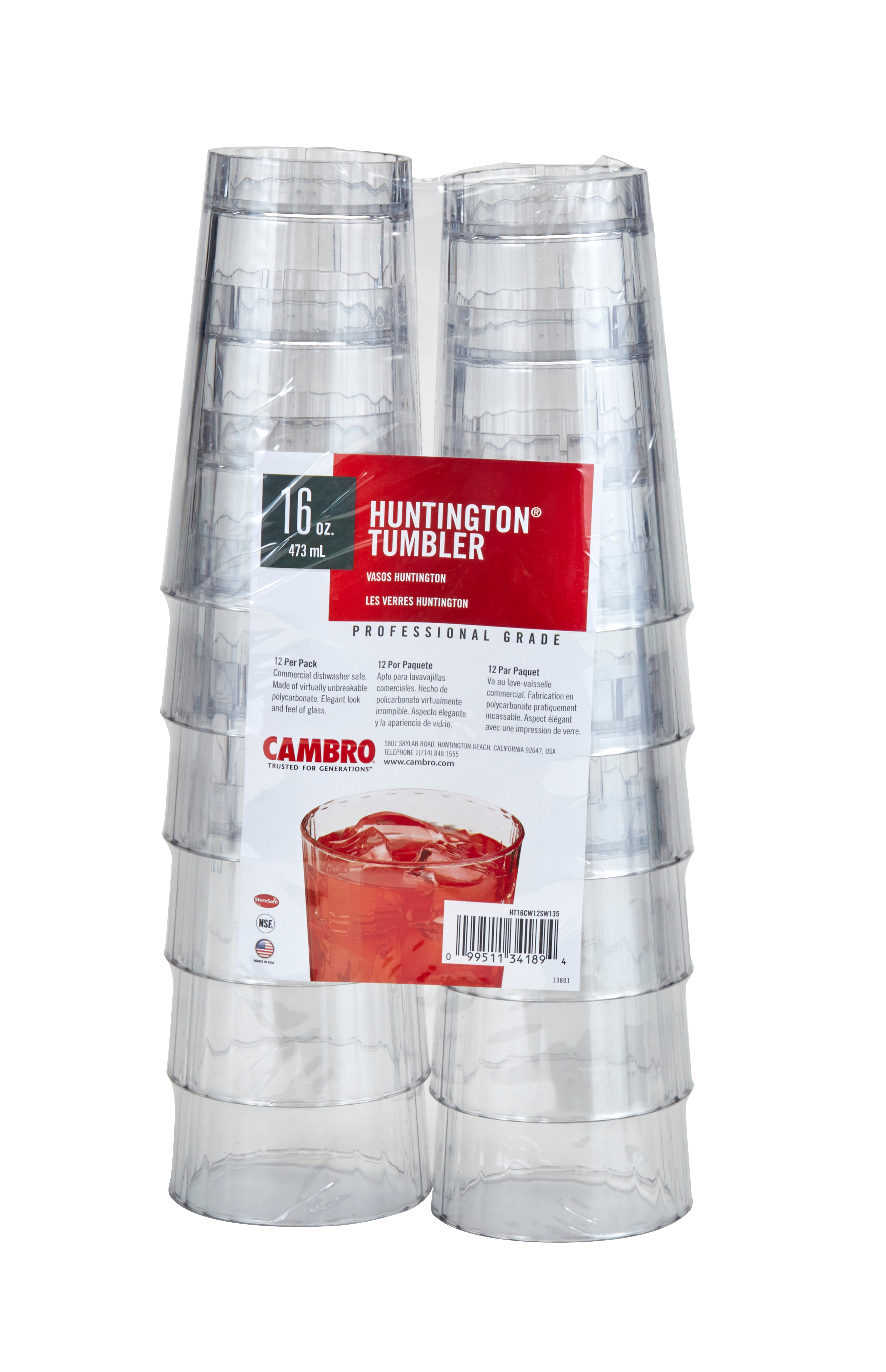 Cambro HT16CW12SW135 serving/drinking glasses