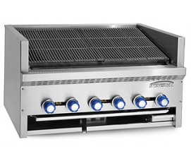Imperial IABFS-24 charbroiler, gas, floor model