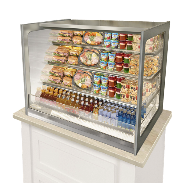 Federal Industries ITRSS4834 refrigerated self-serve case, drop-in counter case