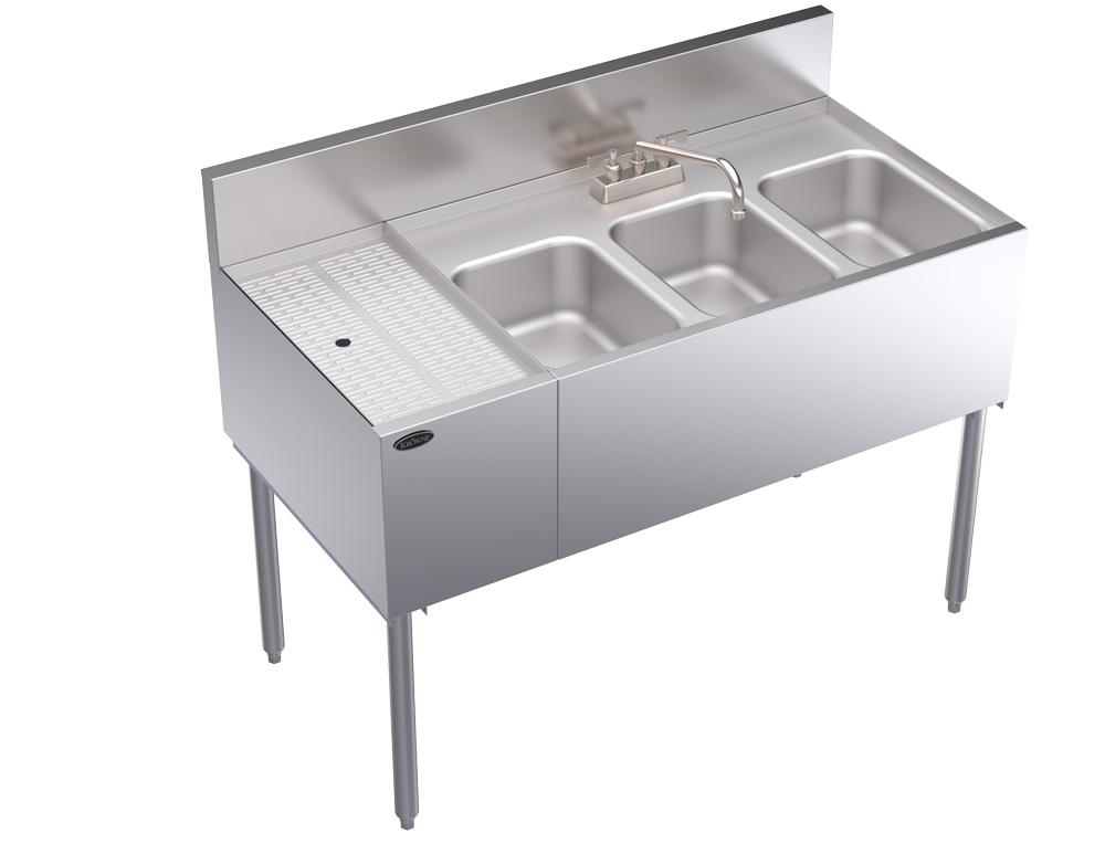 Krowne Metal KR24-43R compartment underbar sink