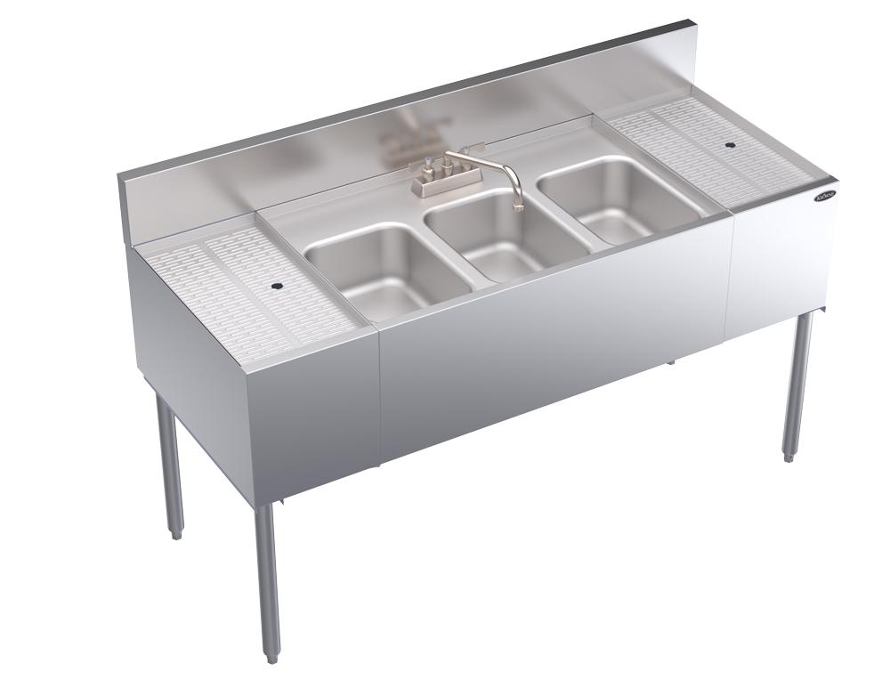 Krowne Metal KR24-53C compartment underbar sink