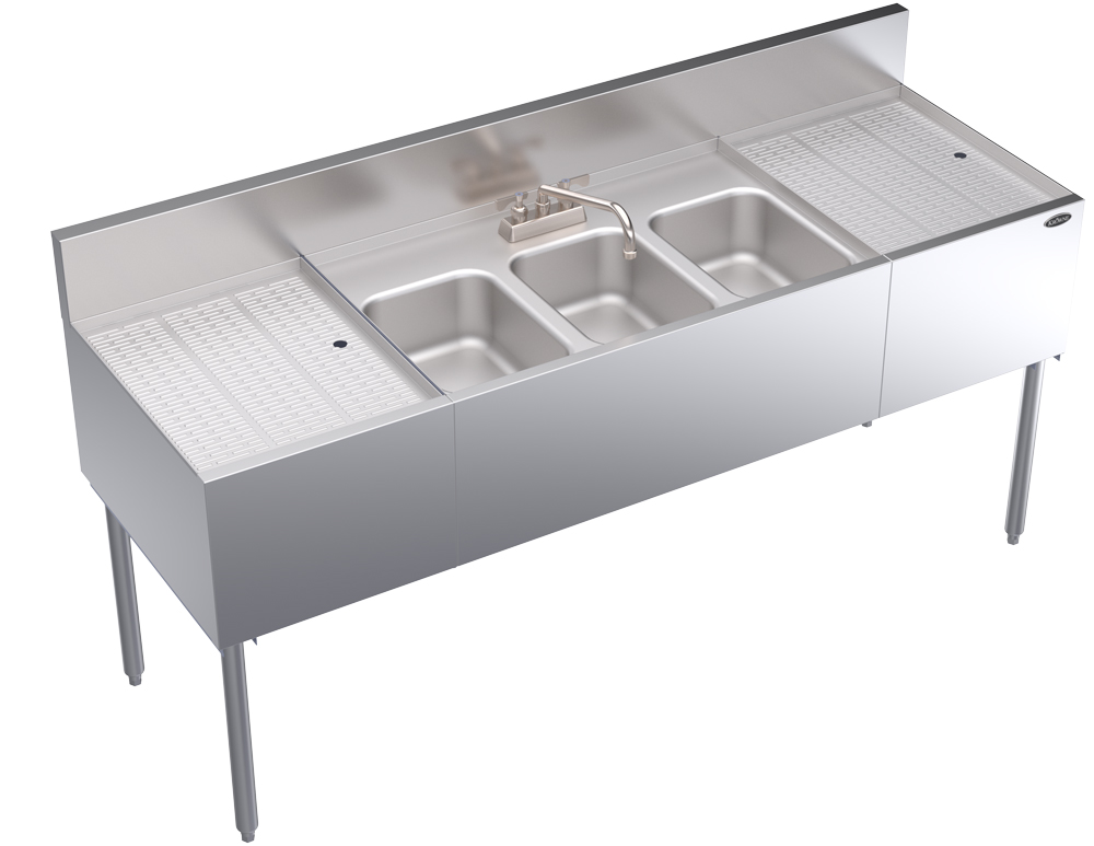 Krowne Metal KR24-63C compartment underbar sink