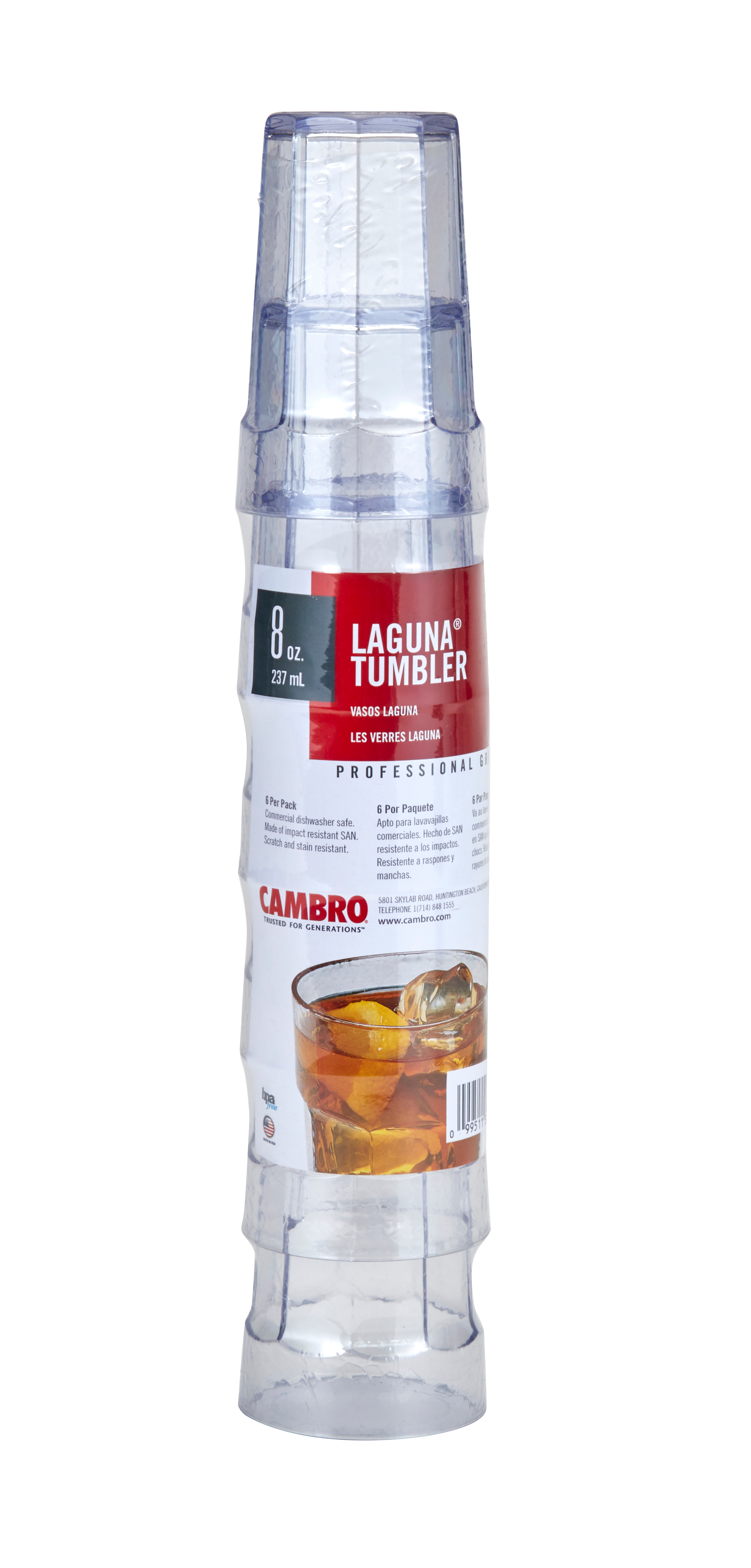 Cambro LT8SW6152 serving/drinking glasses