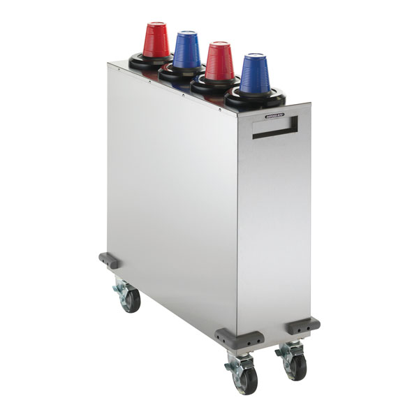 Dispense-Rite MCDC-SLR4X1 mobile cup dispensing carts