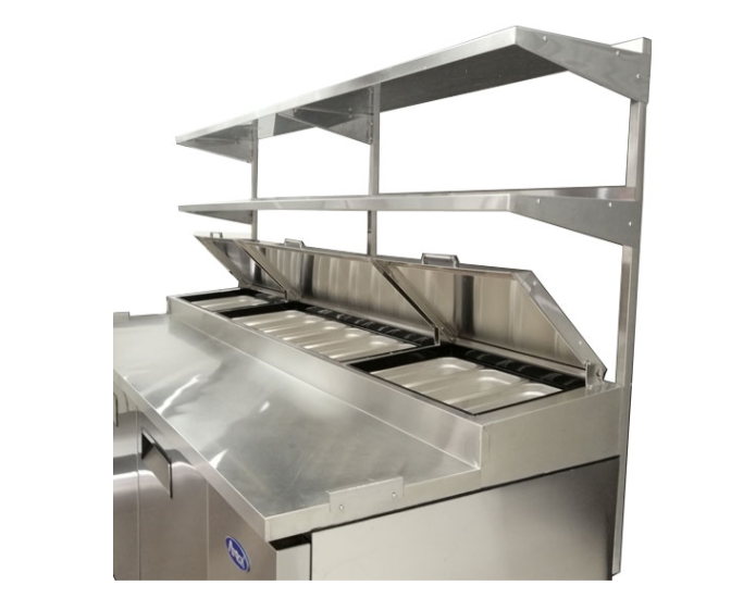 Atosa USA MROS-44P stainless steel double overshelf for 44