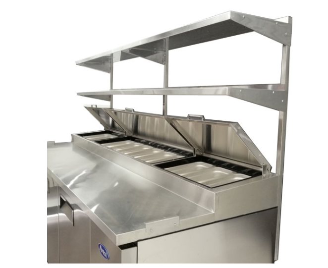 Atosa USA MROS-67P stainless steel double overshelf for 67