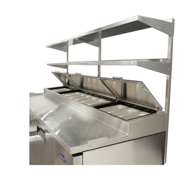 Atosa USA MROS-93P stainless steel double overshelf for 93