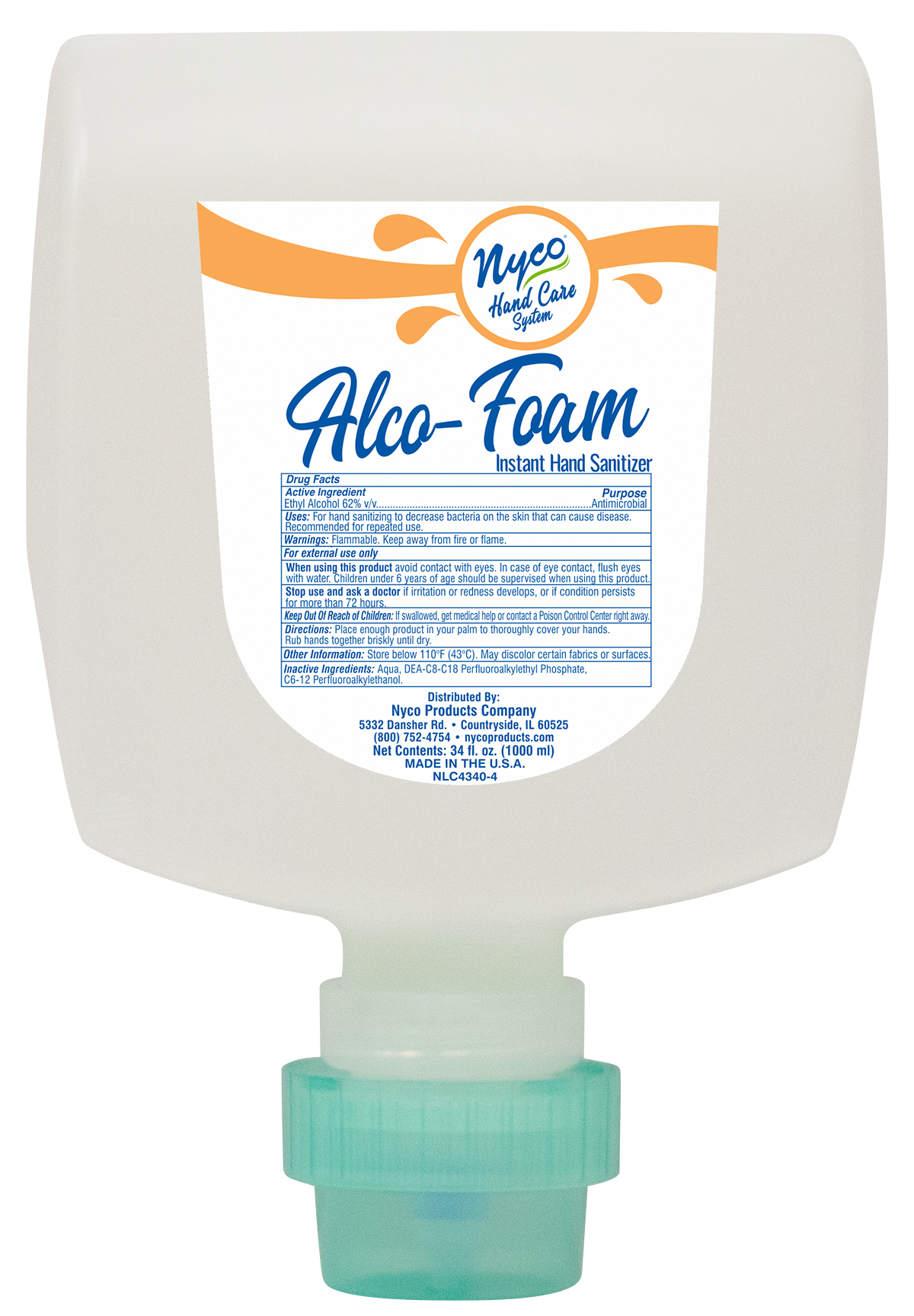 Nyco NLC4340-4 hand sanitizer