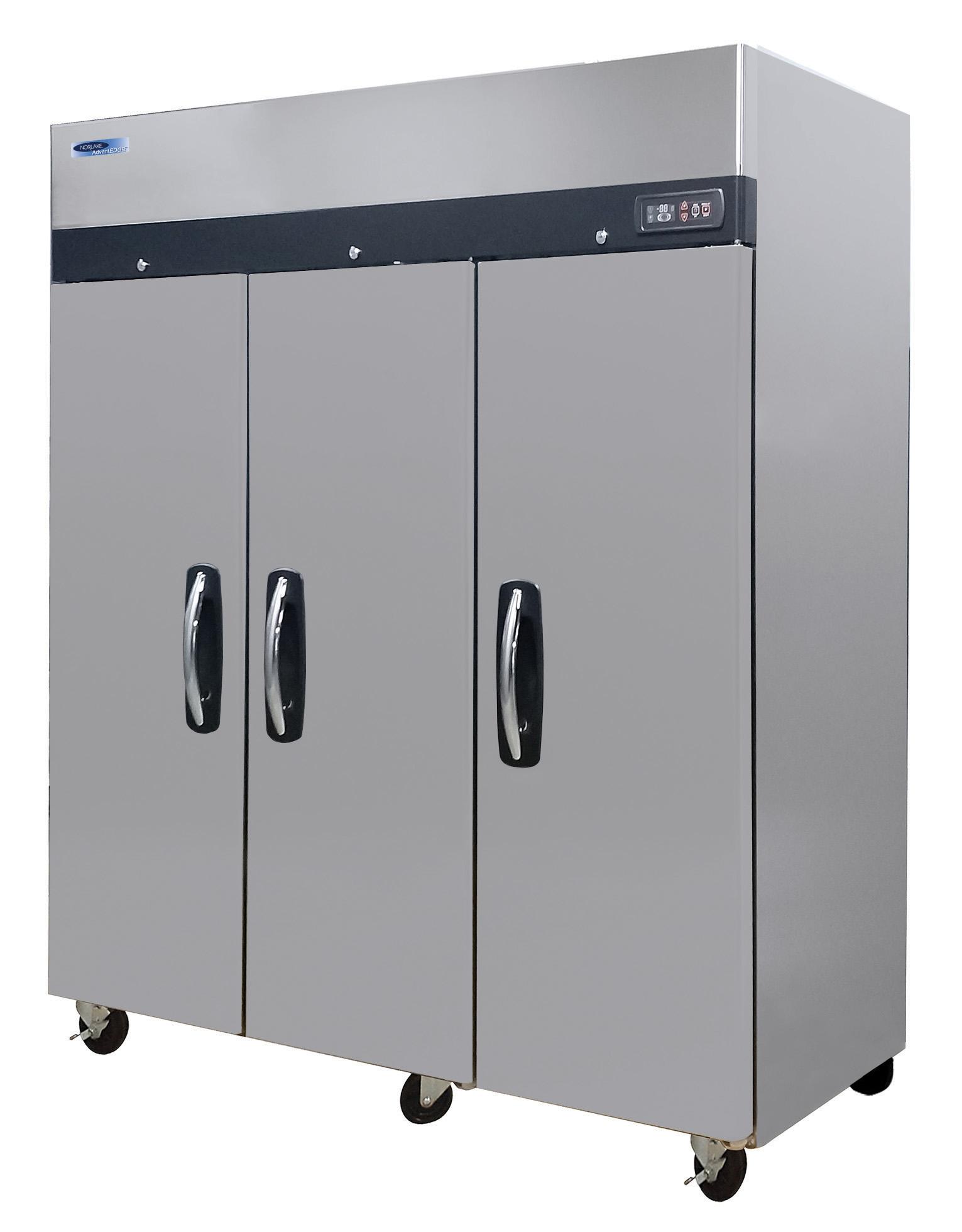 Nor-Lake NLTF72-S freezer, full solid door, 3 door