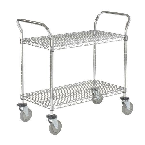 Nexel 2136P2CB wire shelf utility carts