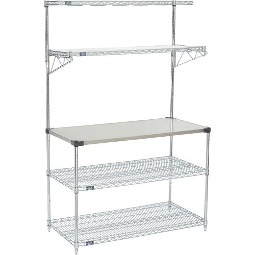 Nexel MFP24487C food prep stand & carts