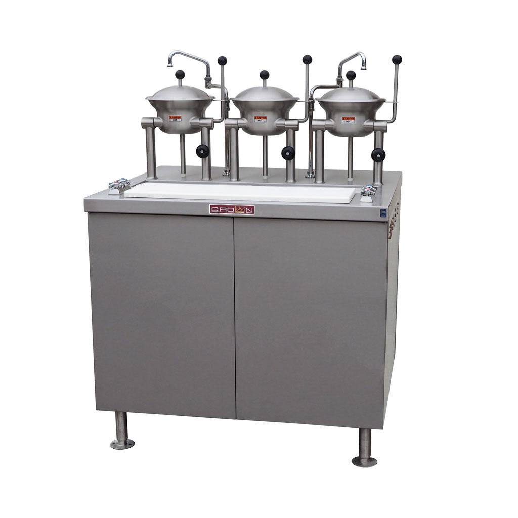 Crown Steam OB-3-2-40-G tilting oyster cooker