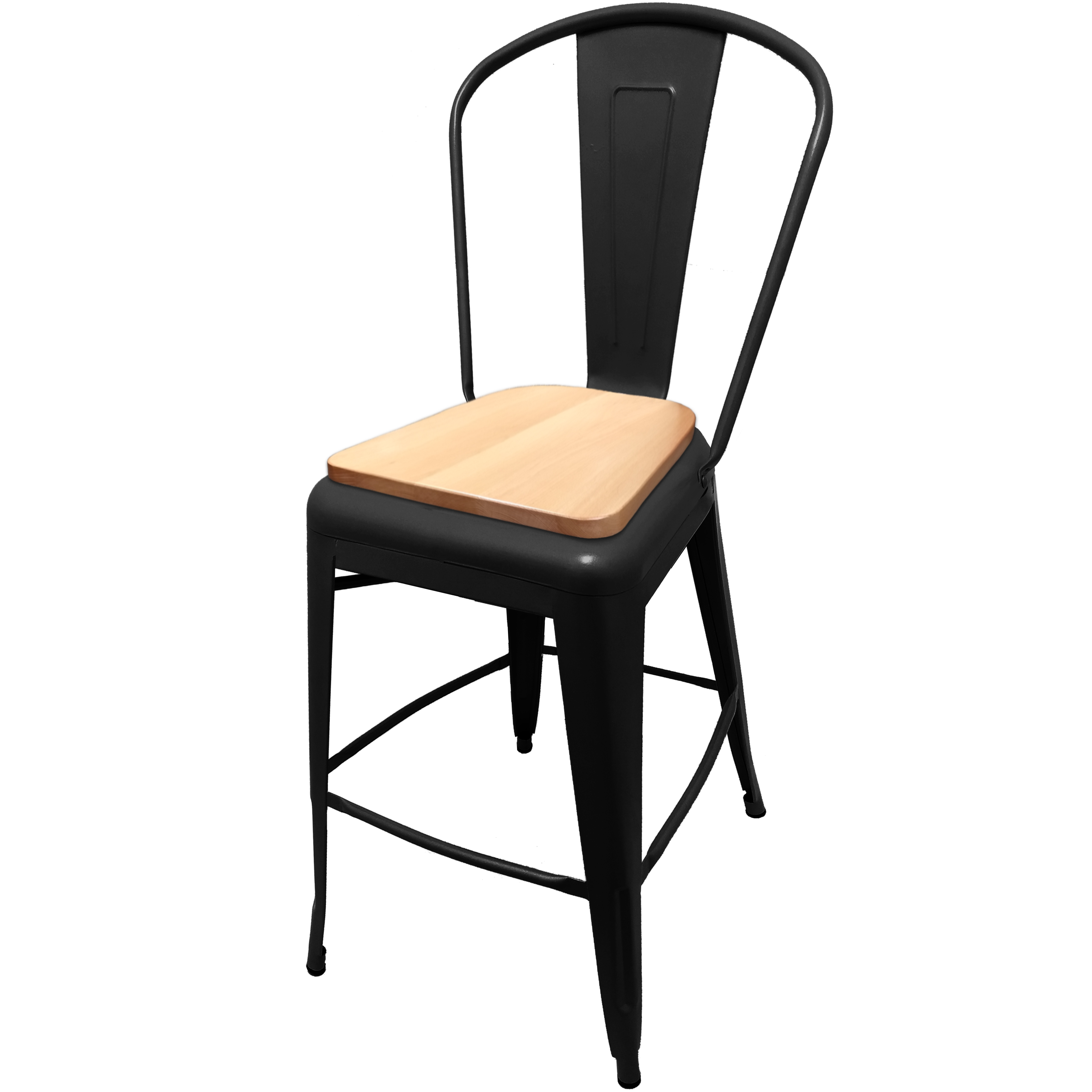 Oak Street OD-BM-0001-BLK-N bar stool, outdoor