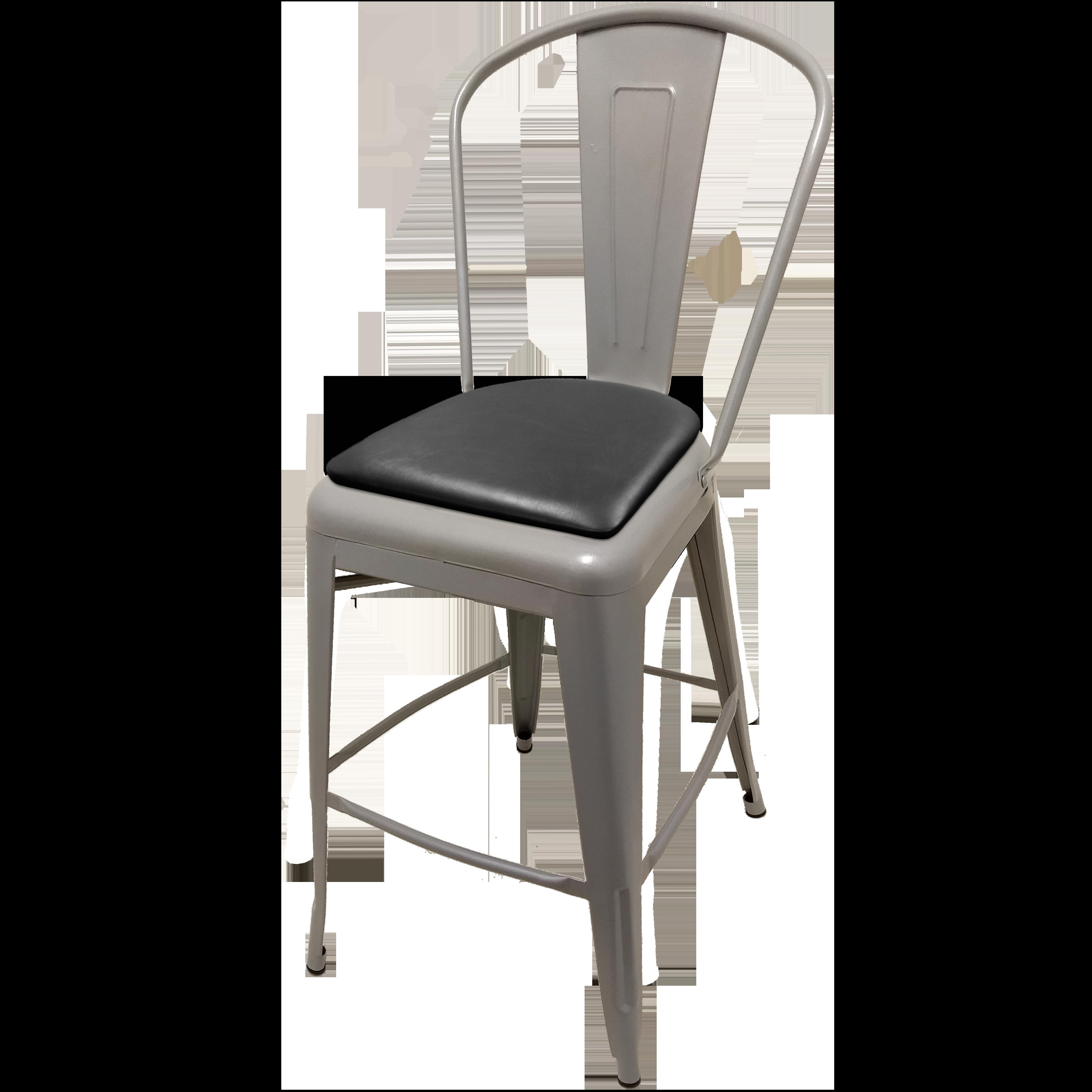 Oak Street OD-BM-0001-SLV-BLK bar stool, outdoor