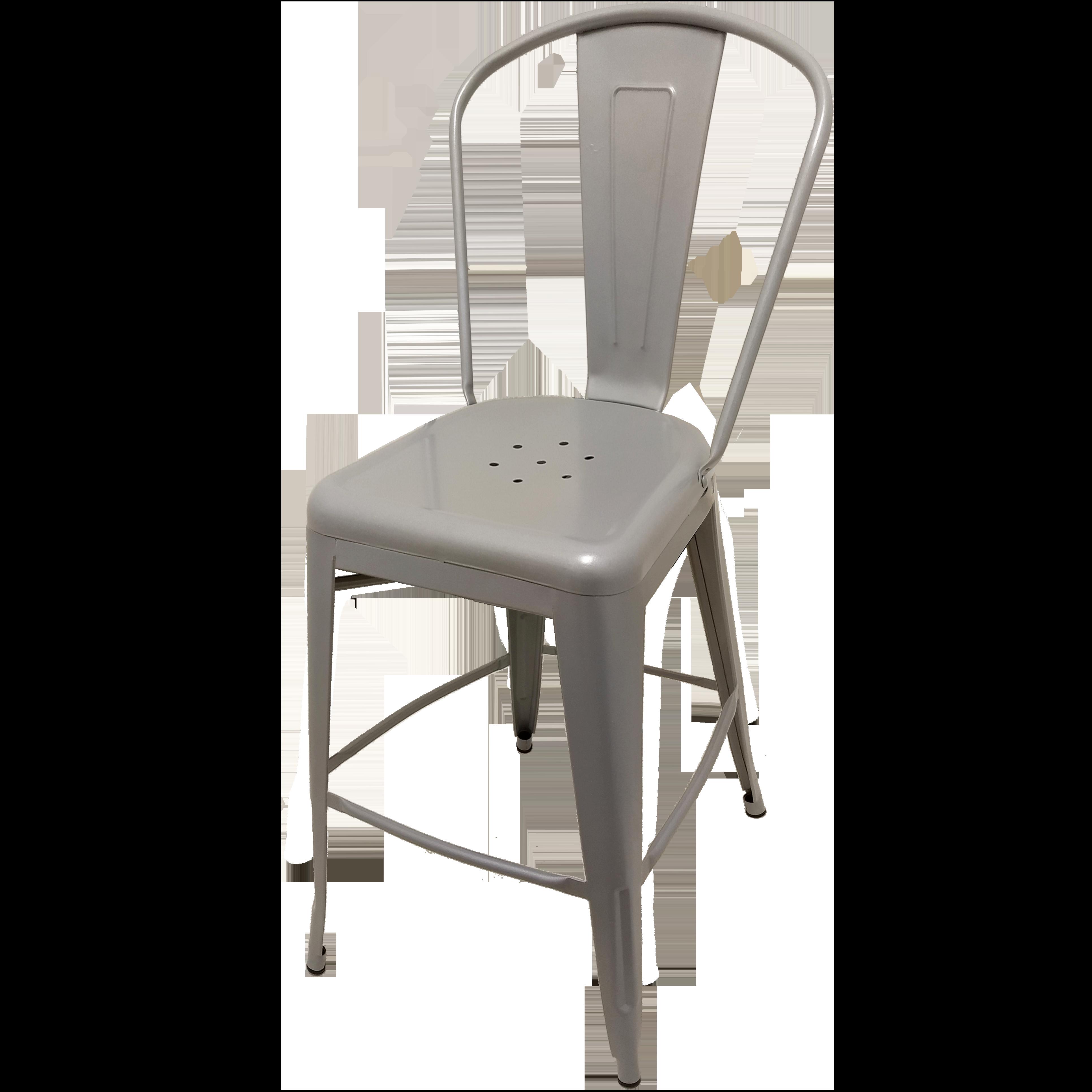 Oak Street OD-BM-0001-SLV bar stool, outdoor