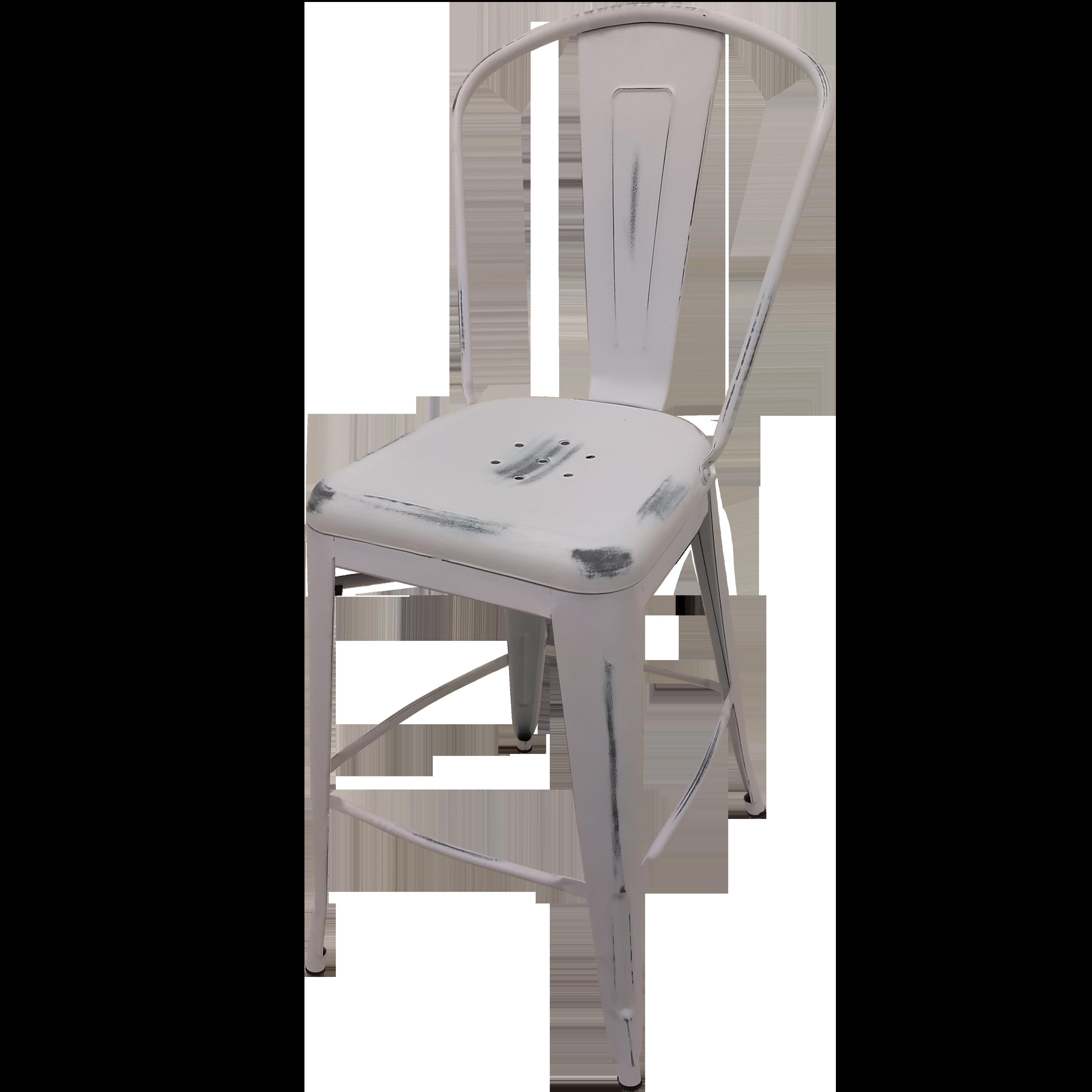 Oak Street OD-BM-0001-WHT bar stool, outdoor