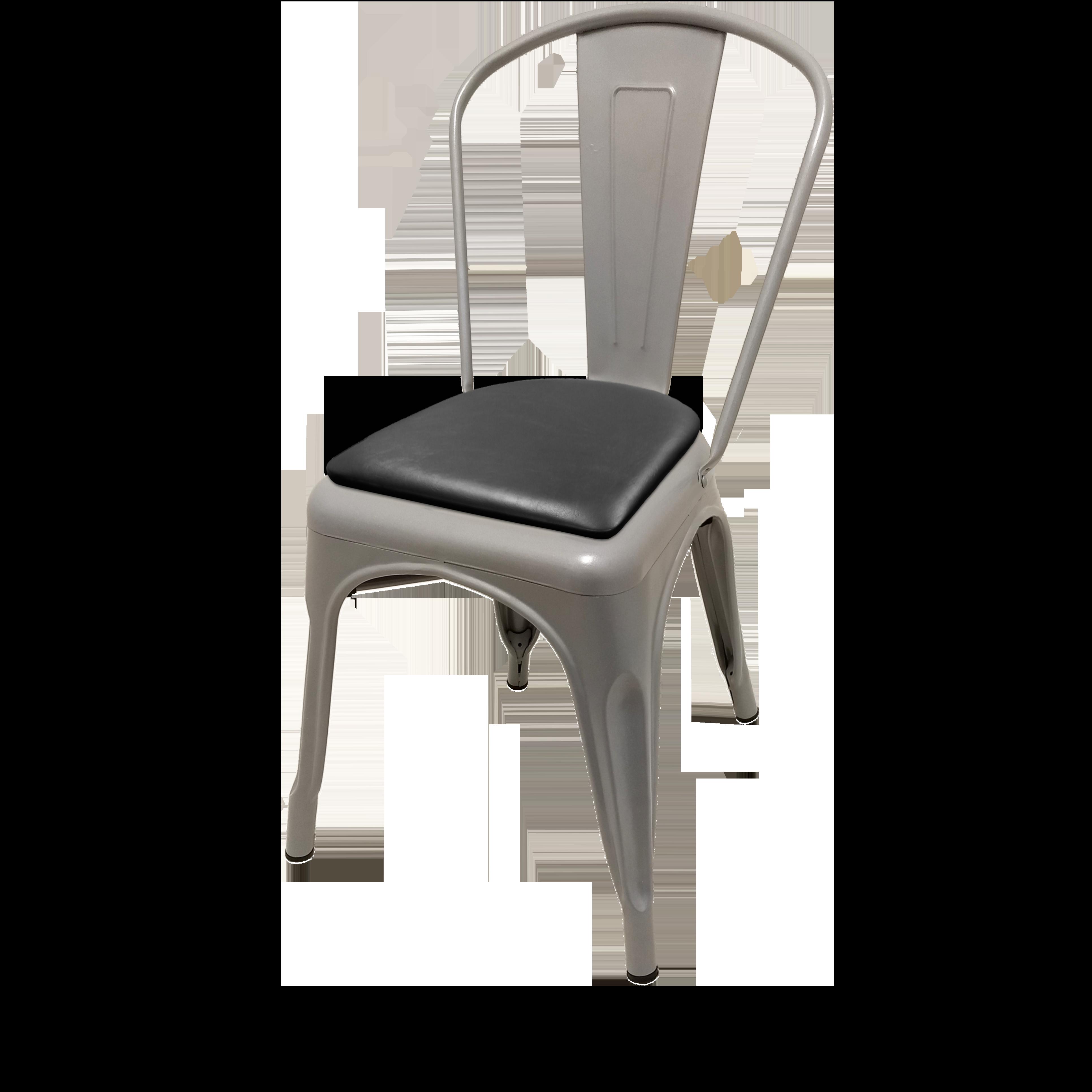 Oak Street OD-CM-0001-SLV-BLK chair, stacking, outdoor