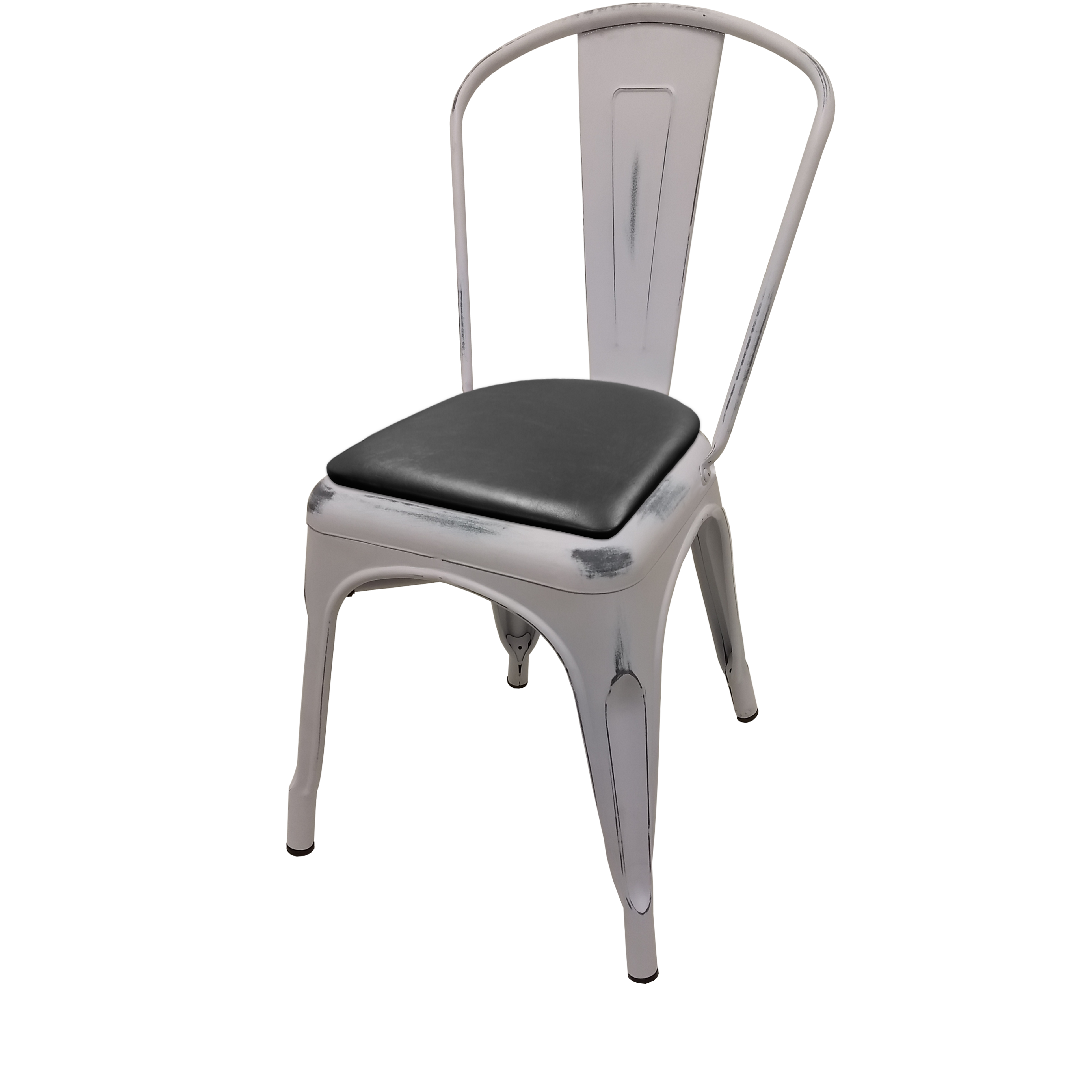 Oak Street OD-CM-0001-WHT-BLK chair, stacking, outdoor