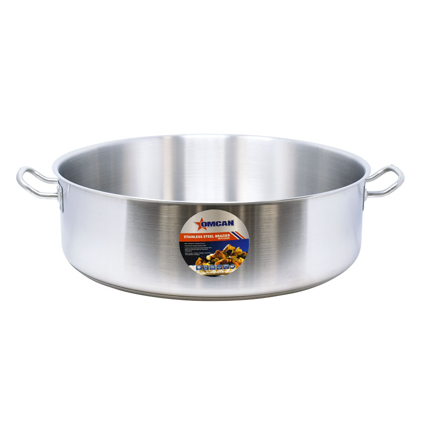 Omcan 80430 smallwares > professional cookware > brazier pans > stainless steel brazier pans