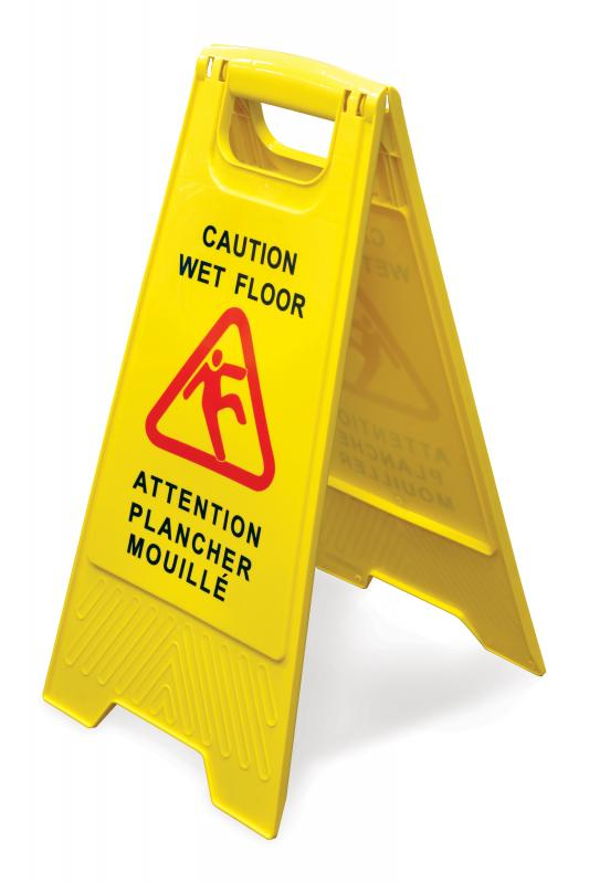 Omcan 24415 maintenance and safety > cleaning products > caution wet floor signs