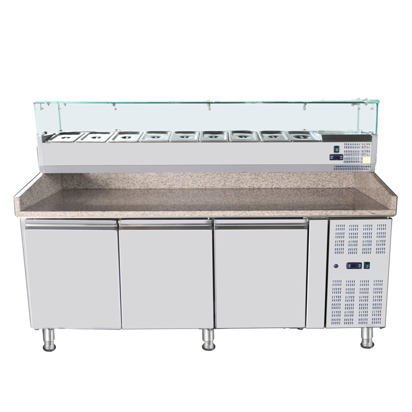Omcan RS-CN-0009-P featured products|refrigeration > refrigerated prep tables > refrigerated topping rails with sneeze guard