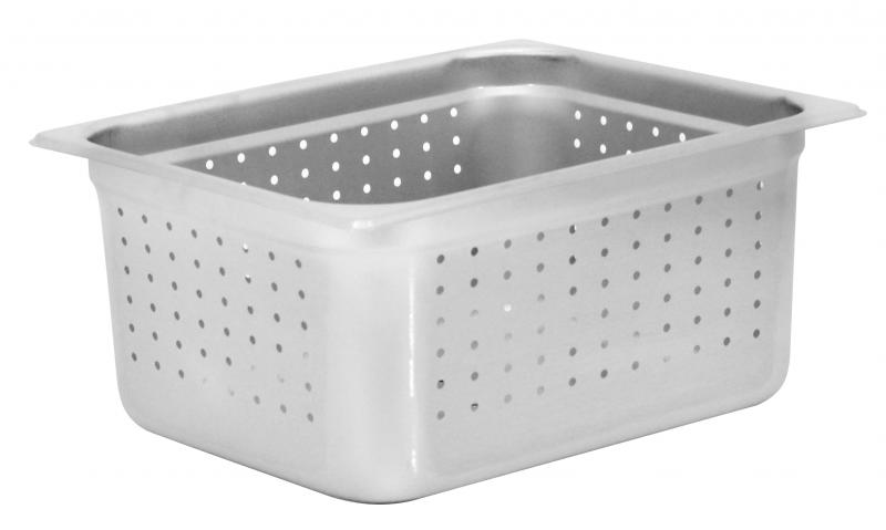Omcan 85208 smallwares > kitchen essential > stainless steel steam table pans > perforated steam table pan|smallwares > kitchen essential > stainless steel steam table pans