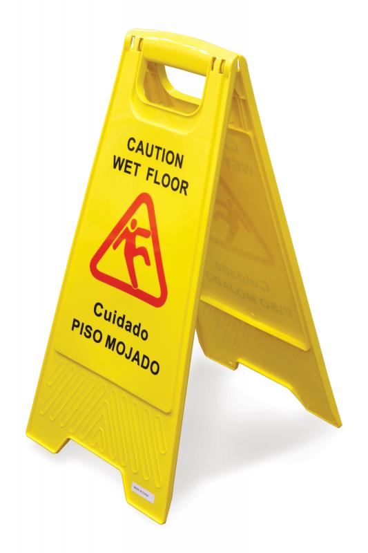 Omcan 24414 maintenance and safety > cleaning products > caution wet floor signs