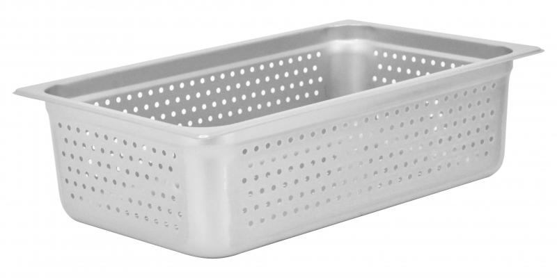 Omcan 85196 smallwares > kitchen essential > stainless steel steam table pans > perforated steam table pan|smallwares > kitchen essential > stainless steel steam table pans