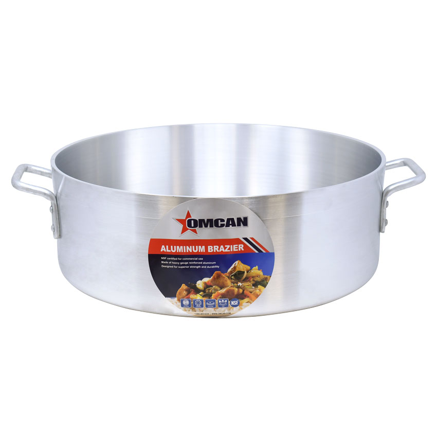 Omcan 80479 smallwares > professional cookware > brazier pans > aluminum brazier pans
