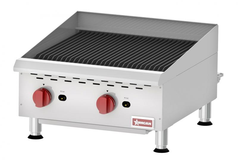 Omcan CE-CN-CBR24 food equipment > cooking equipment > countertop gas char-broiler