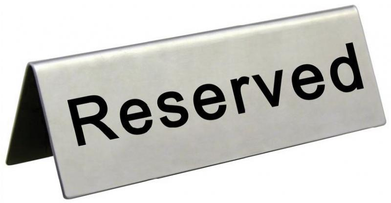 Omcan 80013 customer convenience > labels and signs > reserved sign