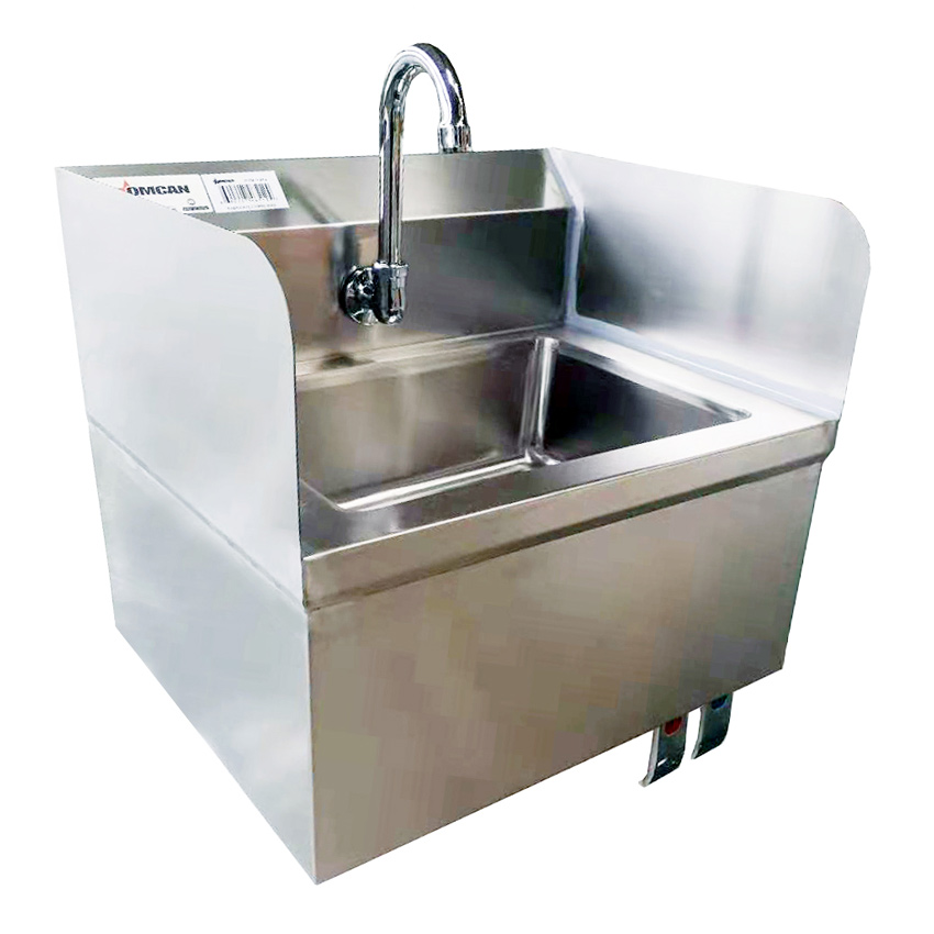 Omcan 46512 tables and sinks > sinks > hand sinks with knee valves and accessories > hand sinks with knee valves|tables and sinks > sinks > hand sinks with knee valves and accessories